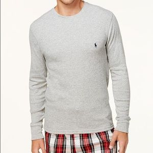 Ralph Lauren Long Sleeves Thermal Grey knit